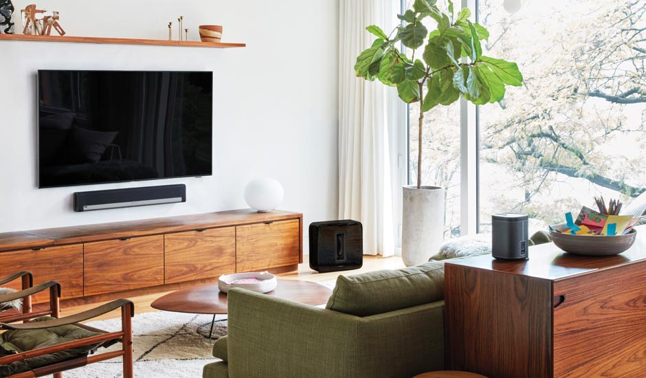 Living Room with Sonos Playbard