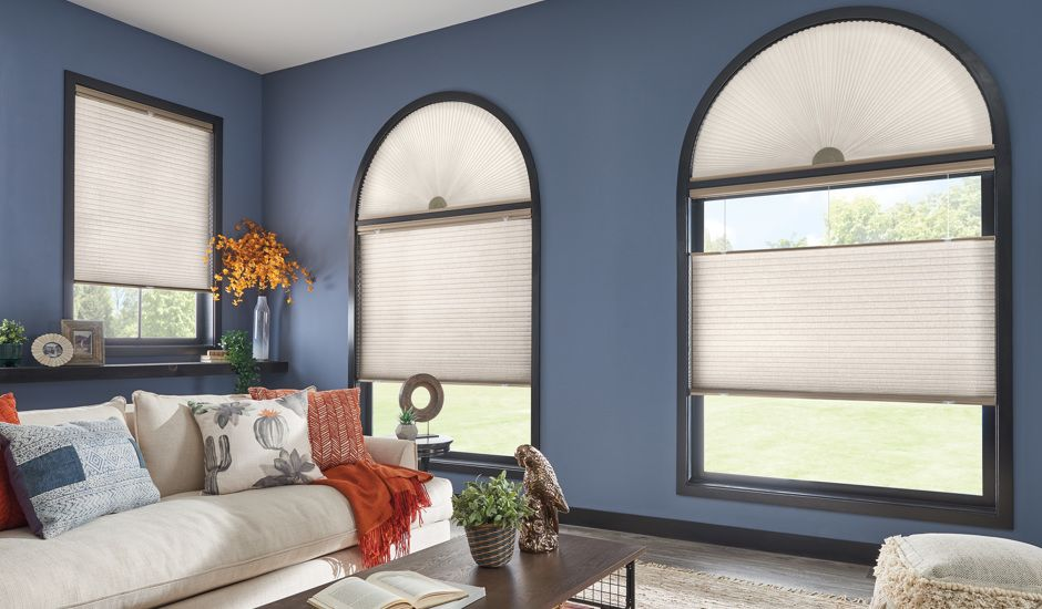 cellular shades in living room
