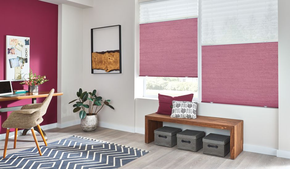 cellular shades in office