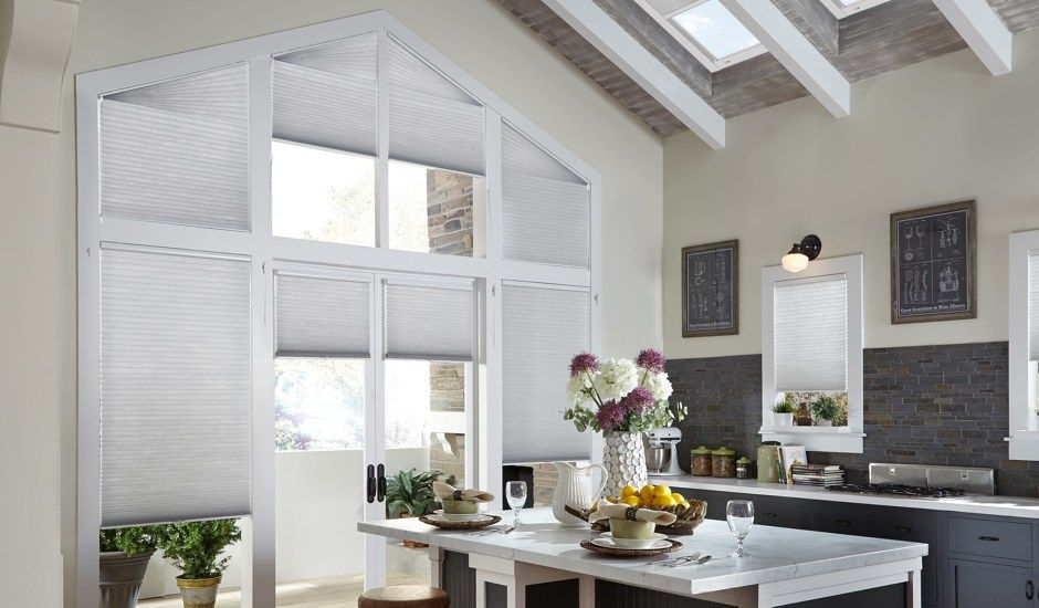 cellular shades in kitchen