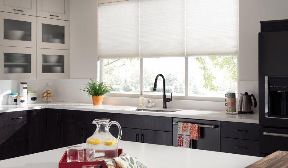 Attrayant Modern Kitchen White Cellular Shades
