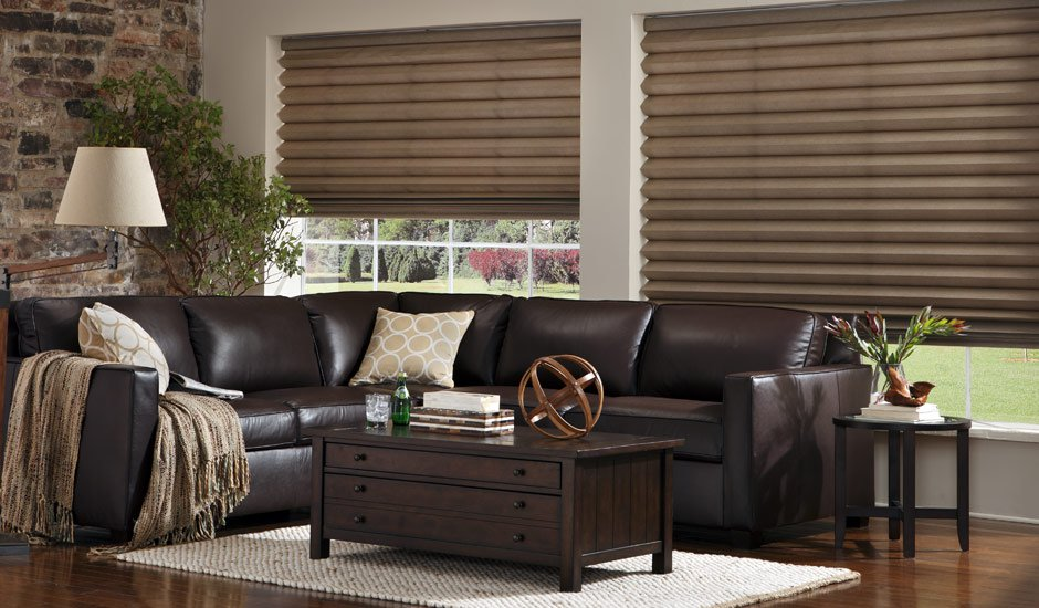 brown-pleated-shades-budget-blinds