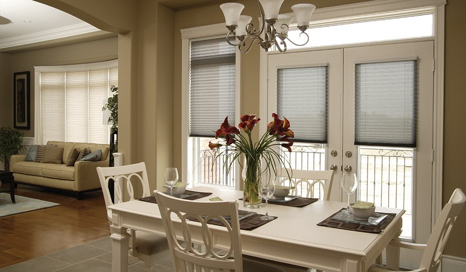 light-blue-pleated-shades-dining-room