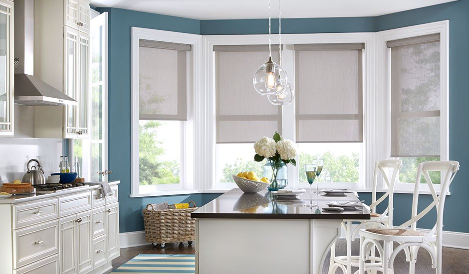 greige-roller-shades-kitchen