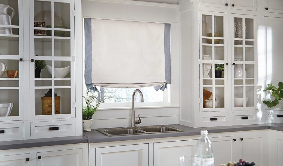 white-and-blue-roman-shades-kitchen-GH