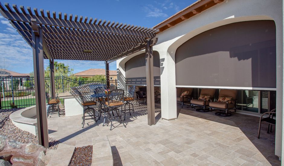 solar shade in patio
