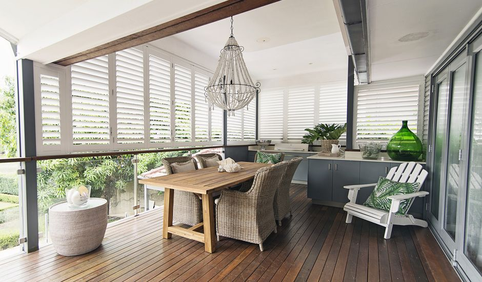 exterior shutters on patio