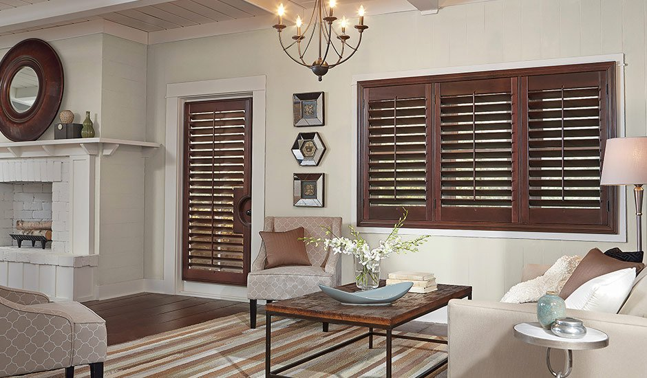 Brown Door Shutters Living Room