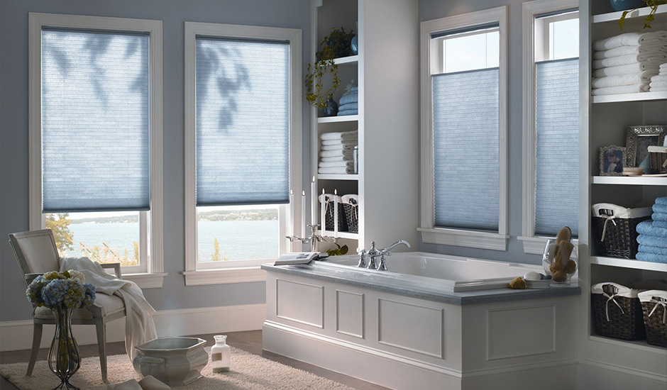 blue-cellular-shades-bathroom-windows