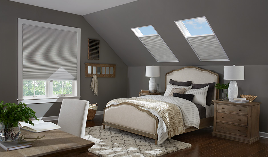 Bedroom with Cellular Shades