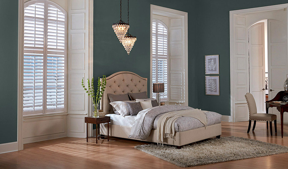 dark-luxe-bedroom-white-shutters