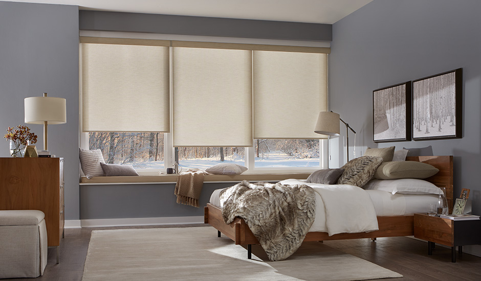 Modern-bedroom-roller-shades-warm