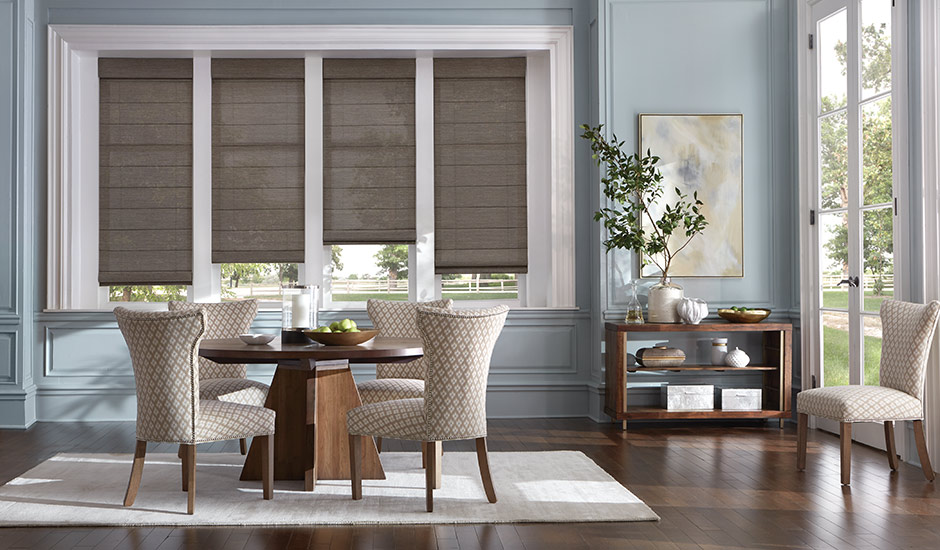 Dining Room Roman Shades Brown