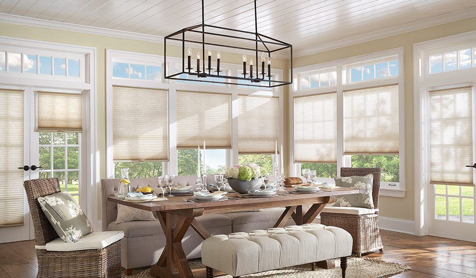 white-dining-room-cellular-shades