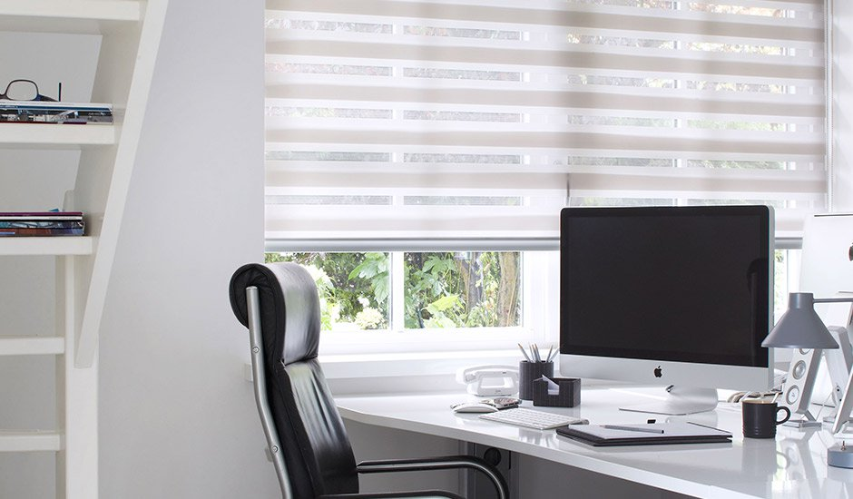 Two Tone Sheer Shades Office