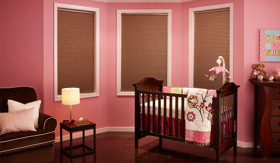 brown-cellular-shades-pink-babys-room
