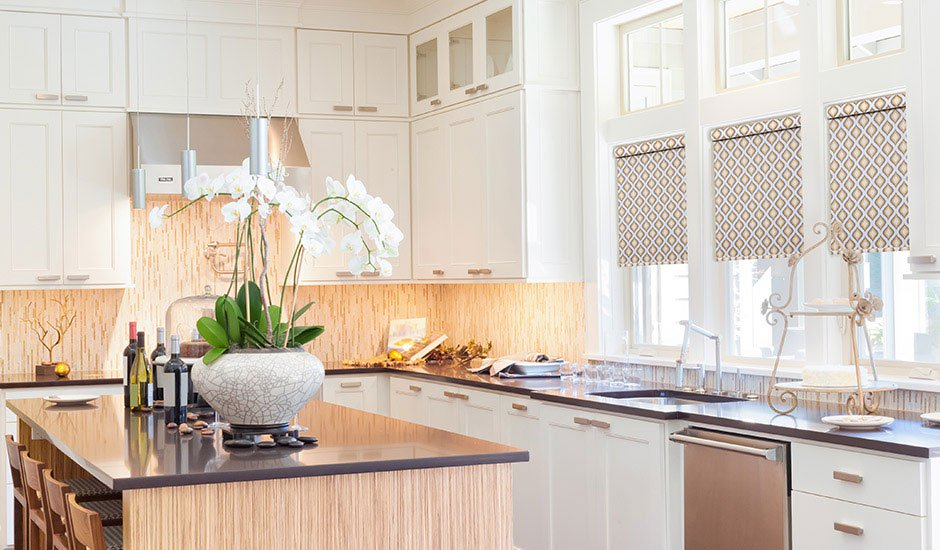pattern-roller-shades-rose-gold-kitchen