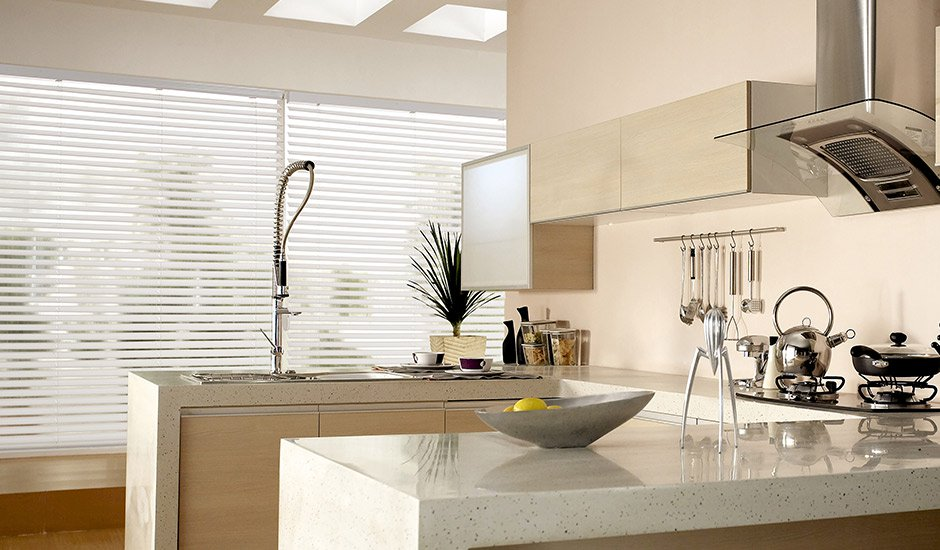 white-wood-blinds-modern-kitchen