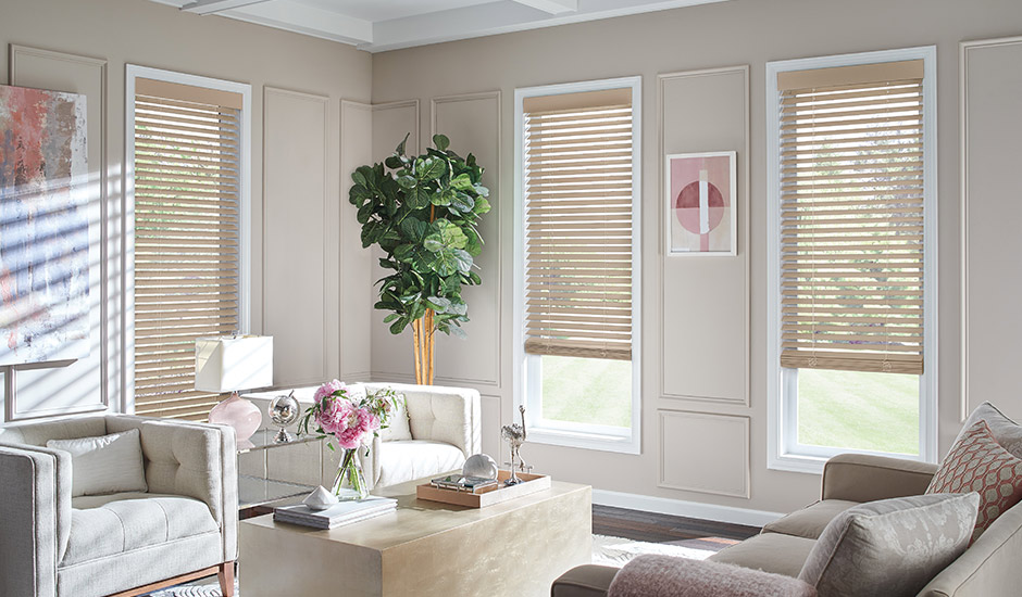 tan-wood-blinds-contemporary-living-room
